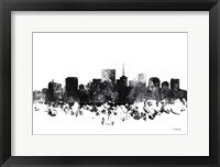 Framed Richmond Virginia Skyline BG 1