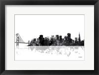 Framed San Francisco California Skyline BG 1