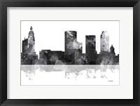 Framed Tulsa Oklahoma Skyline BG 1