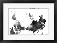 Framed Upside Down Map Of The World BG 1