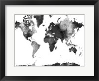 Framed World Map BG 1