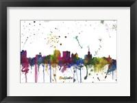 Framed Buffalo New York Skyline Multi Colored 1