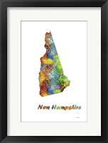 Framed New Hampshire State Map 1