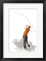 Framed Golf Player 1