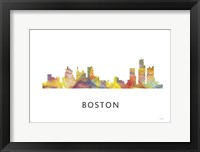 Framed Boston Mas .Skyline
