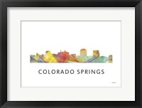 Framed Colorado Springs Colorado Skyline