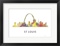 Framed St Louis Missouri Skyline