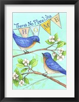 Framed Home Blue Birds