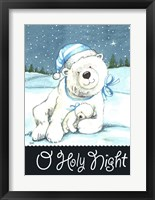 Framed Polar Bear Holy Night
