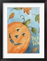 Framed Pumpkin Trick Or Treat