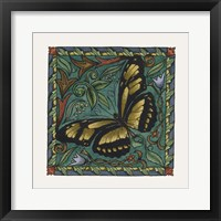Framed Apple Butterfly Tile