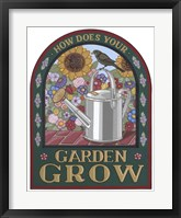 Framed Apple Garden Grow