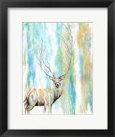 Framed Deer Tree