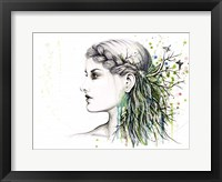 Framed Forest Lover Girl Portrait