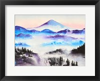 Framed Mountain Mist Landscape