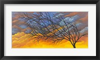 Framed Sunset Tree