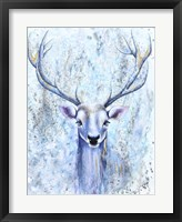 Framed Blue Spirit Deer