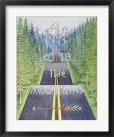Framed Mountain Travel Quote