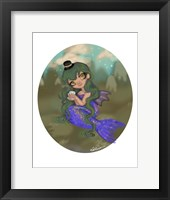 Framed Emerald Mermaid