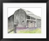 Framed Gray Barn