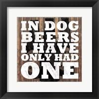 Framed Dog Beers