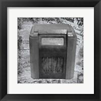 Framed Vintage Radio