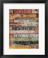 Framed Serenity Prayer