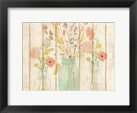 Framed Summer Bloom Jars