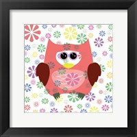 Framed Owls and Flowers