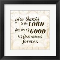 Framed Give Thanks