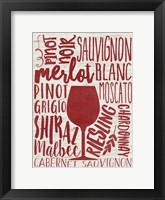 Framed Wine Types