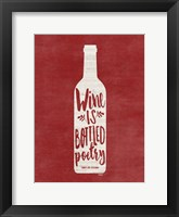 Framed Bottled Wine
