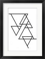 Framed White Triangle