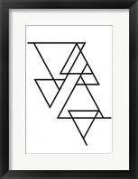 Framed White Triangle