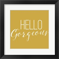 Framed Hello Gorgeous 2