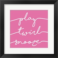 Framed Play Twirl Snooze PINK