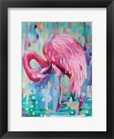 Framed Flamingo In The Natural 1