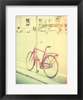 Framed Red Bike