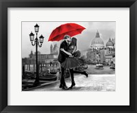 Framed Venice Kiss