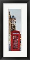 Framed London Phone Booth