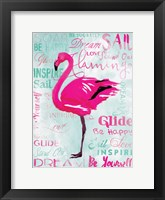 Framed Sky Flamingo