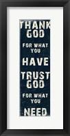 Framed Trust God