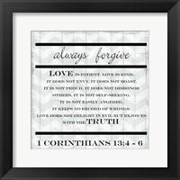 Framed Always Forgive