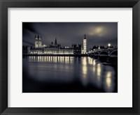 Framed London Duotone Parliament