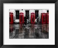 Framed London Phone Booths People