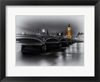 Framed London Selective Bridge and Big Ben