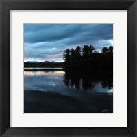 Framed Sunset Lake Pink 2