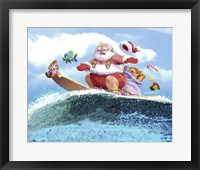 Framed Santa's Vacation
