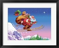 Framed Santa Ski