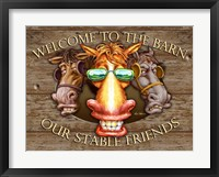 Framed Welcome to the Barn